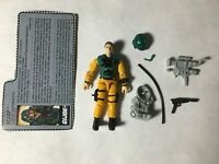GI JOE ARAH Scoop 1989 V.1 Complete With Filecard