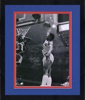 "Framed Julius Erving Philadelphia 76ers Signed 16"" x 20"" Dunk vs. Lakers Photo"