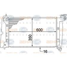 ORIGINAL HELLA Kühler Motorkühlung Breite 355mm Toyota Corolla 8MK376773-631