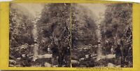 North Wales Galles UK Fairy Glen Stereo Vintage Albumin