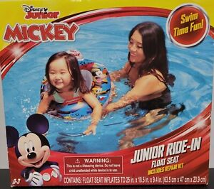 Disney Junior Ride-in Float Seat Mickey Mouse Raft Baby Toddler ~Pool Inflatable