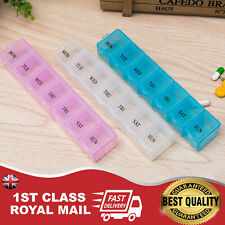 7 Day Pill Box Medicine Tablet Dispenser Organiser Weekly Storage Weekly Daily