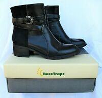 BareTraps Native Ankle Boots Women 7.5M Black Leather Upper BT15802