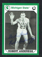 Robert Anderegg signed autograph 1990 Michigan State Collegiate Collection Card