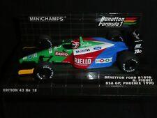 Minichamps 1:43 Nelson Piquet Benetton B189B USA GP Phoenix F1 1990 400900120
