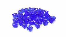 100 pieces 4mm Crystal Glass Square / Cube Beads- Cobalt Blue - A3010