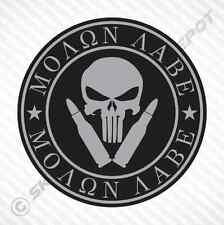 Molon Labe Punisher Skull Sticker Vinyl Decal Car Truck Motorcycle Gun Sticker