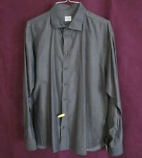 Men's Armani Italian Gray Casual Shirt SZ Large pre-owned