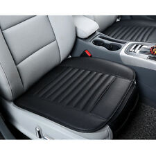 1pc Car SUV PU Leather&Bamboo Charcoal Seat Cover Breathable Front Seat Cushion