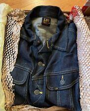 Vintage 50s LEE 101-J Rider Sanforized Red Tag Denim Jacket. Big E Era Rare.