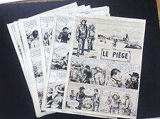 Histoire complète de 11  planches originales remontées  Le piège