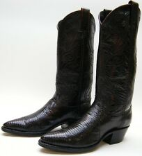 WOMENS DAN POST GENUINE LIZARD SKIN BURGUNDY COWBOY WESTERN BOOTS SZ 6 M 6M