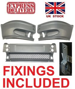 FORD TRANSIT MK6 00-06 FRONT PLASTIC GREY BUMPER COMPLETE NEW WITH WING FIXINGS