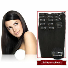 Remy Echthaar Clip in Extensions Haarverlängerung 7 Tressen 40 45 50 55cm