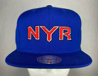 Mitchell and Ness NHL New York Rangers Vintage Wool Solid 2 Snapback Hat *2015
