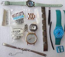 Watch parts + extra links Gold 10KT GF kreisler, kessaris, relic, swatch, Fossil