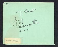 Jimmy Durante (d. 1980) & Joe E. Brown (d. 1973) signed autograph 4x5 Album Page