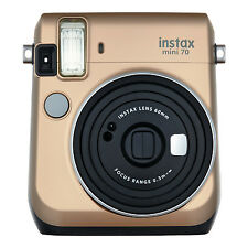 Gold Colour FujiFilm Fuji Instax Mini 70 Instant Photos Films Polaroid Camera