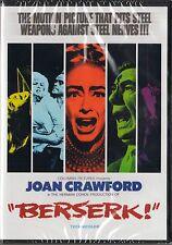 Berserk! (1967) DVD - Ty Hardin, Joan Crawford, Jim O'Connor  NOT RATED