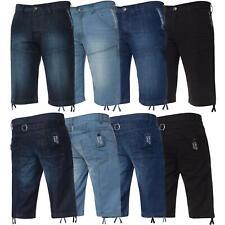Mens Shorts Regular Fit Summer Denim Half Jeans Knee Length Pants By Kruze