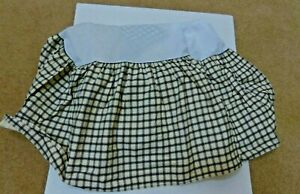 Bed Skirt,Dust Ruffle,Twin,Waverly, Garden Room Cream, Black Squares,Plaid