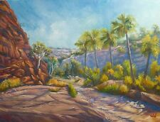 Original oil landscape painting Palm Valley, West MacDonnell Ranges NT