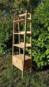 TEAK WOOD natural shelf unit 4 bathroom, shower qubicle, living room or kitchen