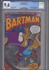 Bartman #1  CGC 9.6 1993 Bongo ( Simpsons) Comic: Radioactive Man BC: NEW Frame