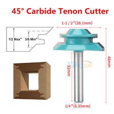 """45° Lock Miter Router Bit 1/4"""" Shank 1-1/2"""" Diameter Wood Cutter Power Tool stp"""