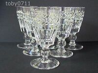 STUART CRYSTAL ARUNDEL PATTERN SIX SHERRY GLASSES - SIGNED (Ref2201)