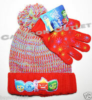 INSIDE OUT BEANIE HAT AND GLOVES SET COSTUME BIRTHDAY GIFT GIRLS 2 PC SET DISNEY