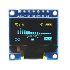 """3-5V 0.96"""" SPI Serial 128X64 OLED LCD LED Display Module blue yellow for Arduino"""