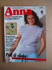 ANNA Burda n°6 1982 con cartamodelli  [C60]