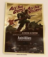 Axis & Allies Miniatures 2005 Promotional Poster with Map NEW A&A Promo