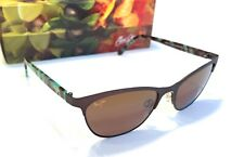 c8f6e08e21  NEW Maui Jim Popoki H729-01S Chocolate Polarized Sunglasses Cat eye women s