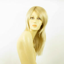 Perruque femme mi-longue blond doré méché blond très clair  COLINE 24BT613