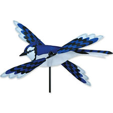 "Blue Jay Bird Staked Wind Whirl Wing Bird 18"" Whirligig Spinner..14.... PR 21879"