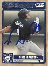 Mikie Mahtook Tampa Bay Rays 2011 Playoff Contenders Prospect Signed Card