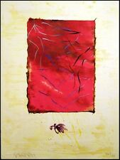 "Scott Sandell ""(Red) Ciphers"" Signed Mixed Media Artwork Make Offer!"