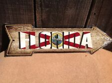 """Florida State Flag This Way To Arrow Sign Directional Novelty Metal 17"""" x 5"""""""