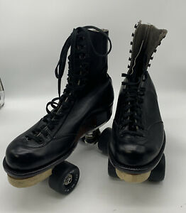 """Vintage BETTY LYTLE """"Styled by HYDE"""" High Topped Roller Skates Size 9 Plate ???"""