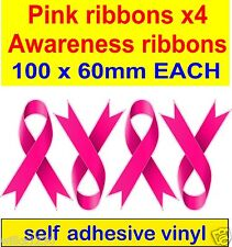 4 BREAST Cancer Awareness ROSA multifunzione auto van decalcomania ADESIVO CAFE SHOP barra finestra