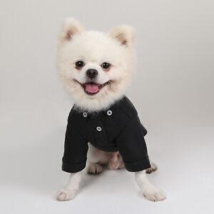 Allacki Two-Legged Cool Cute Cotton Button Down Shirt Breathable Dog Clothes