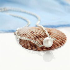 Charm Jewelry Pendant Chain Pearl Choker Chunky Statement Bib Necklace Women HF
