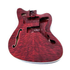 Musoo brand ash finished Semi-hollow jazzmaster body with F hole