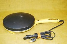 Nordic Ware Electric Crepe Maker Yellow/Gold Model 85000 - Tested