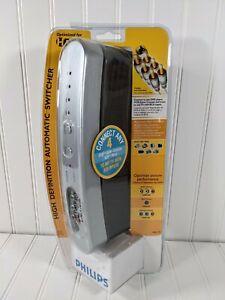 Philips PH61150 4 Way HD Digital AV Automatic Switcher RCA S-Video Component NIP