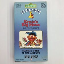 Sesame Street VHS Ernie's Big Mess and Other Stories Start to Read Video Tape