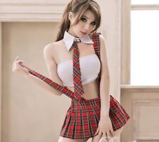 Sexy Student High School Girls Uniform Costume Outfit Skirt  Fancy Dress 0884