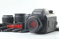 [Mint] Pentax 645 NII N II w/ SMC A 75 55 150 3Lens 120 film back From JAPAN 229
